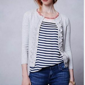 Anthropologie Sparrow Shoreline Scalloped Cardigan